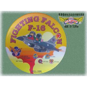 【鐵鳥迷飛機系列】空軍第5聯隊F-16B 6830 太陽神陶瓷吸水杯墊